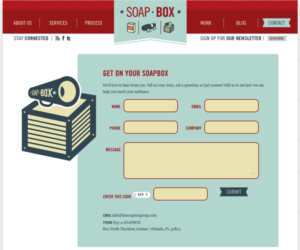 35 Examples Of Beautiful Html Contact Forms